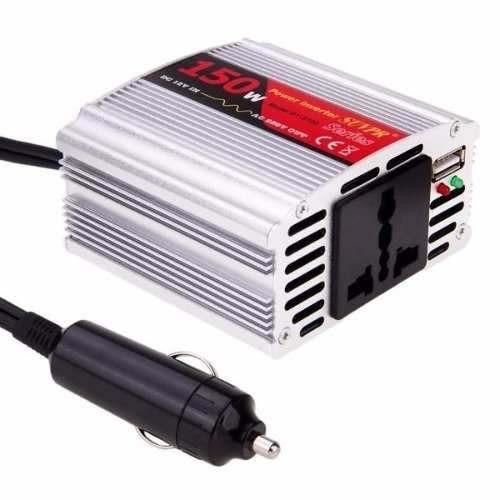adaptador inversor de corriente p/ auto 12v a 220v 150w usb