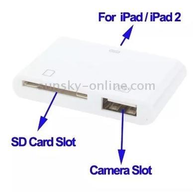 dc2a9e5335d9c Adaptador Ipad 1 Y 2 Para Conectar Camara Usb Memoria Sd -   9.500 ...