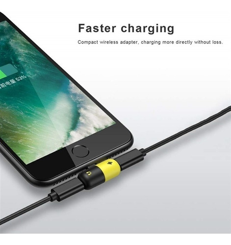 adaptador iphone carregador fone lightning audio + charge