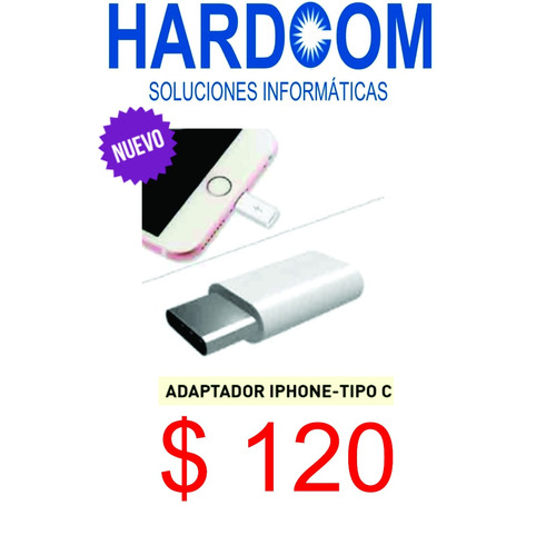 adaptador iphone - tipo c