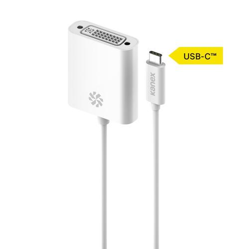 adaptador kanex usb-c a dvi 8.25 pulgadas (21 cm) -blanco