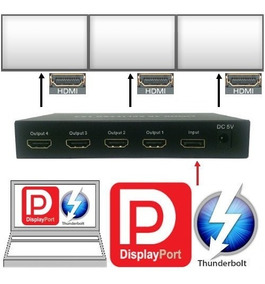 Adaptador Laptop Video-wall Thunderbolt Macbook Hasta 4 Tv 4