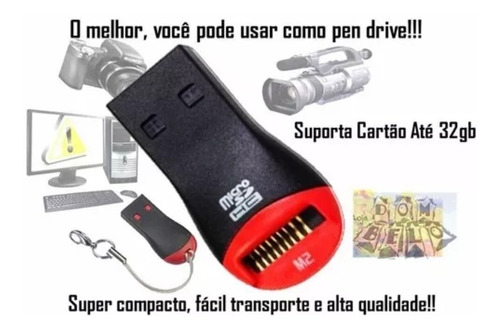 adaptador leitor gravador de cartão de memór sd card kit c 3