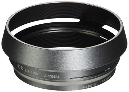 adaptador lente filtro plata jjc lhjx100 capucha cámara fuji