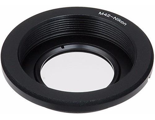 adaptador lente m42 para camera nikon (foco no infinito)