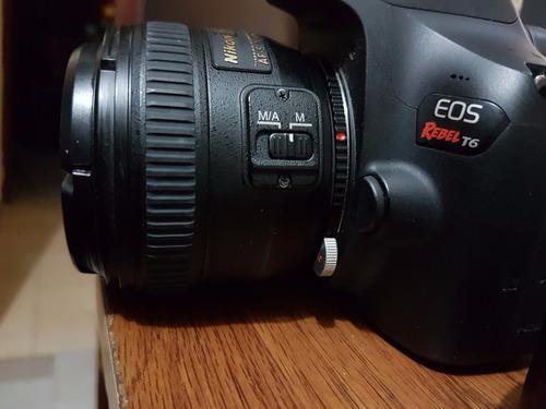 adaptador lente nikon - eos ef canon control apertura