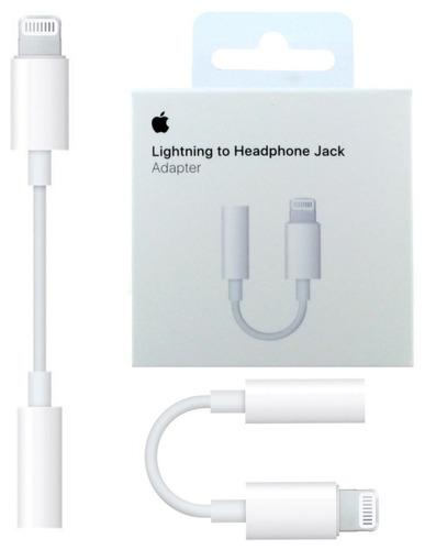 adaptador lightning iphone 7 8 plus x  a jack 3,5 original