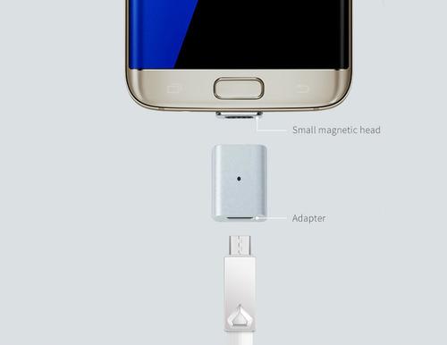 adaptador magnetico micro usb carga y datos,xperia ,galaxy,