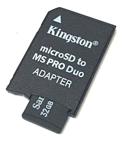 adaptador memoria microsd a pro duo psp - factura a / b