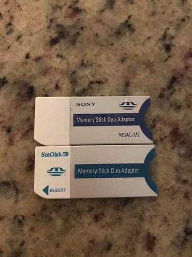 adaptador memory stick dúo sony y sandisk