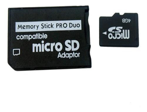 adaptador micro sd a memory stick pro duo psp camaras