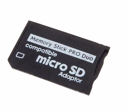 adaptador micro sd memory stick ms pro duo - psp câmera