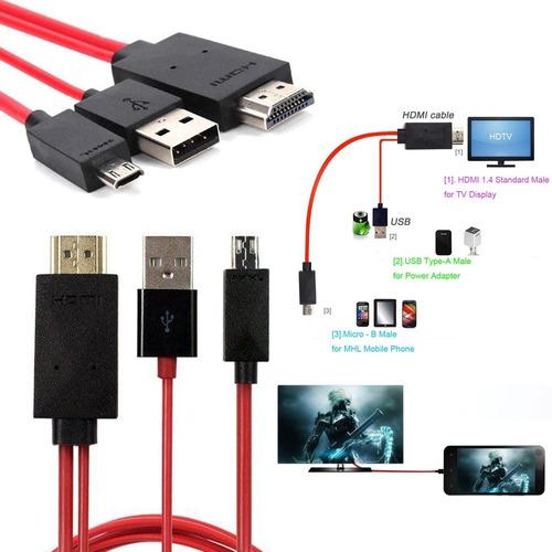 adaptador micro usb a hdmi mhl celular tablet