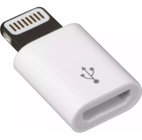 adaptador micro usb a lightning para iphone 5 6 7 blanco