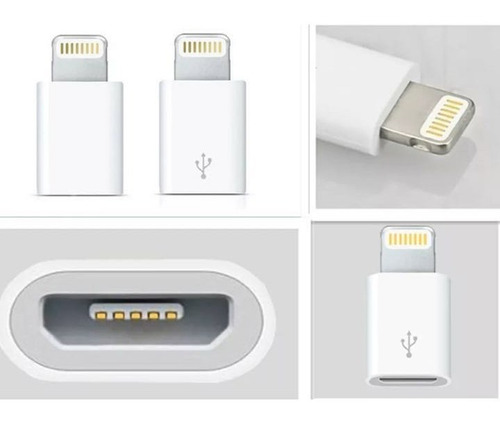 adaptador micro usb (normal) a 8 pin lighting (iphone)