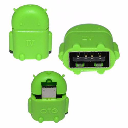 adaptador micro usb otg a micro usb robot android