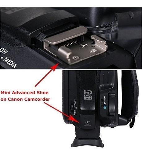 adaptador microfono led jjc msa video camara