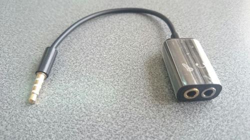 adaptador micrófono para celular estero 3.5 mm