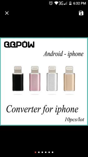 adaptador micros usb a iphone 5/6 en trujillo, nuevos