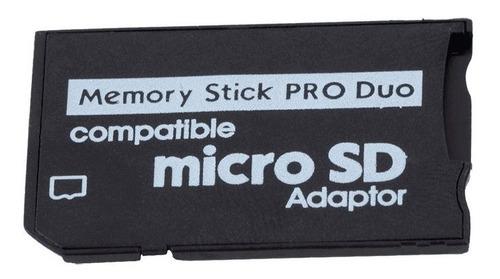 adaptador microsd a memory stick produo. psp - camaras sony