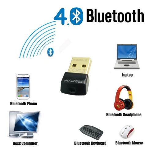 adaptador mini bluetooth 4.0 usb 3.0 pc laptop win 7, 8, 10