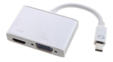 adaptador mini display port a vga y hdmi audio 3.5