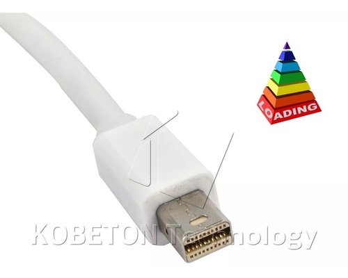 adaptador mini displayport a vga de mac a tv lcd, proyector