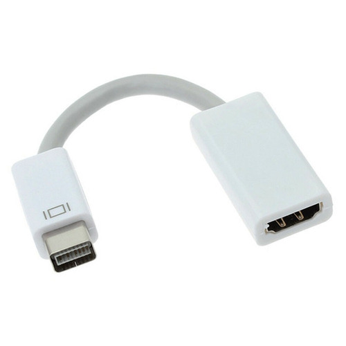 adaptador mini dvi a hdmi compatible con macbook white/black