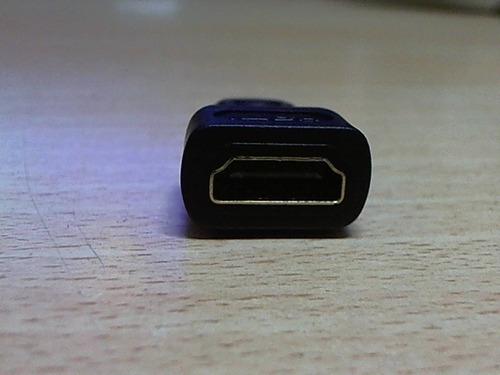 adaptador mini hdmi a hdmi audio video mac netbook