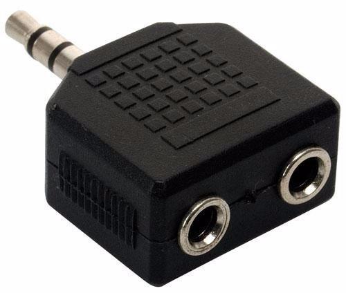 adaptador mini plug 2 hembras divisor auricular stereo 3.5mm