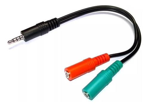 adaptador mini plug 3.5 audio a auricular y micrófono ps4