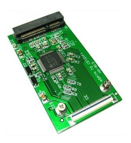 adaptador mini sata msata ssd a zif 40 pin ipod, laptops etc