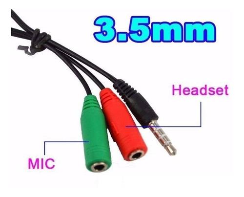 adaptador miniplug 3.5 audio trs auricular y micrófono ps4