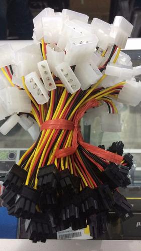 adaptador molex-ide 4 pines a 6 pines pci e tarjeta grafica