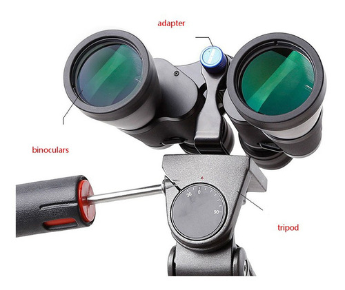 adaptador monte tripé para binóculo telescópio acessório