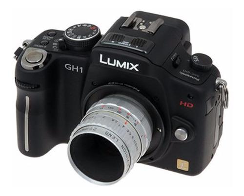 adaptador montura lente 16mm montura c a panasonic y olympus