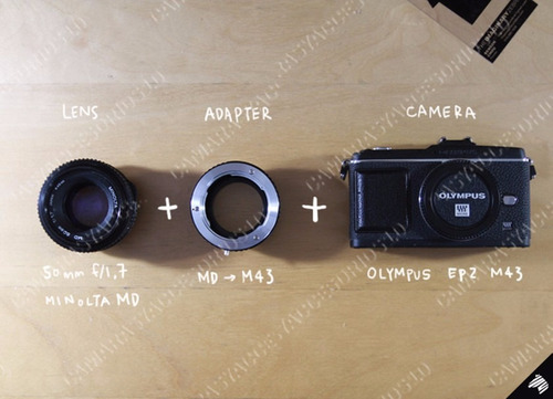 adaptador montura minolta md a m4/3  micro 4/3 minolta md mc