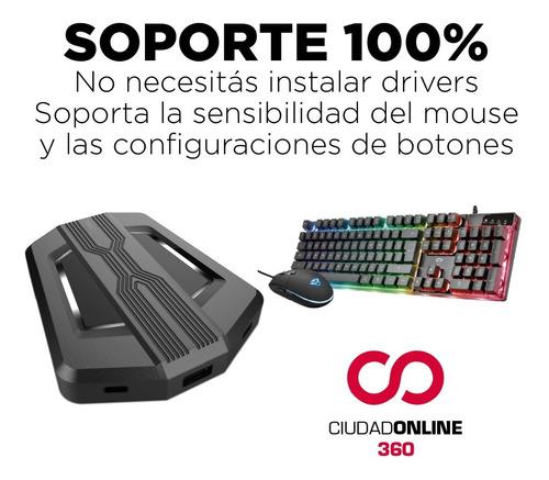 adaptador mouse y teclado en nintendo switch 100% preciso