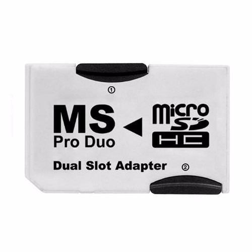 adaptador ms pro duo doble memoria micro sd