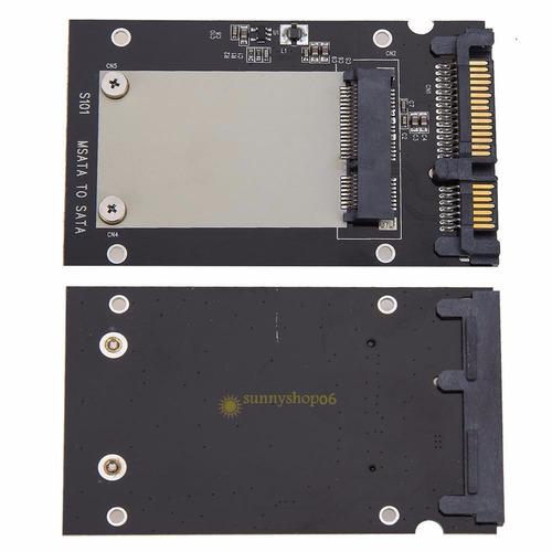 adaptador msata ssd a 2.5 sata convertidor tarjeta disco
