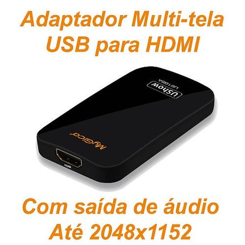 adaptador multi tela usb para hdmi com áudio mygica visus tv