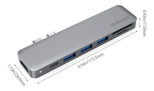 adaptador multiport usb-c 7n1 hdmi 4k @ macbook pro air 2019