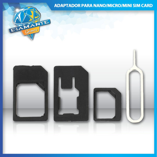 adaptador nano chip, mini, micro sim card para iphone 5 ipad