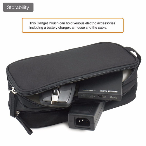 adaptador nexary adapter and cable pouch gadget carrying