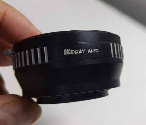 adaptador nikon para câmeras fuji  - ai / fx