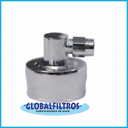 adaptador niple  90° redução 3/4 x mangueira 1/4 purificador