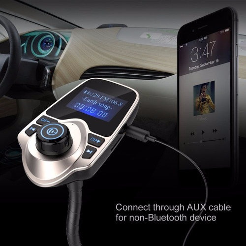 adaptador nulaxy inalámbrico bluetooth transmisor fm