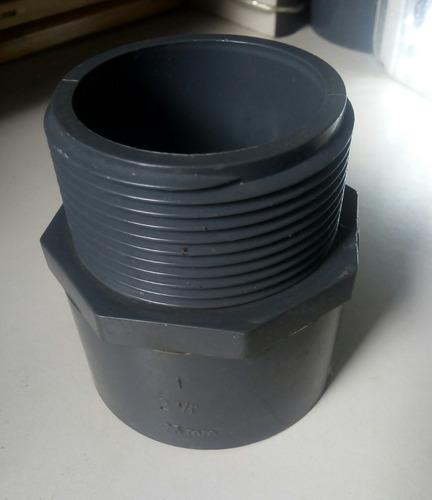 adaptador o conector macho pavco 2 1/2 pvc