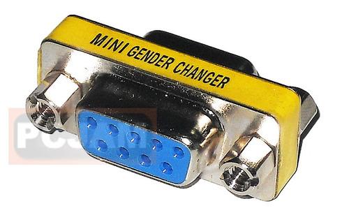 adaptador o copla serial db9 hembra/hembra