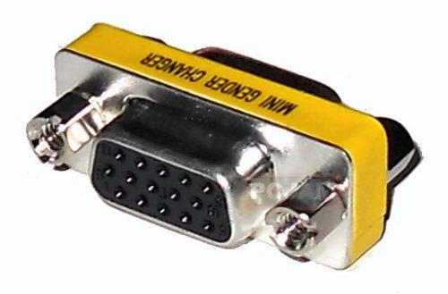 adaptador o copla vga hd15 hembra - hembra
